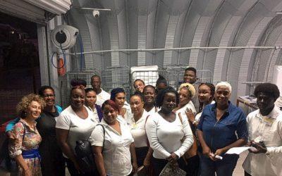 Housekeeping students visit USLAUNDRY plant